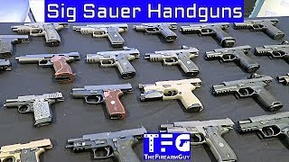 Full Line of Sig Handguns & Some Rifles in 2.5 Minutes - TheFireArmGuy