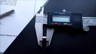 109 Moteur à aimants, mesures du rotor