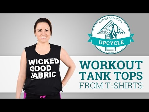 OFS Upcycle: Workout Tank Tops from T-shirts