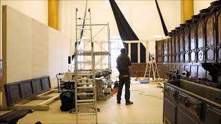 Montaggio del coro di L. Prinotto nella Reggia di Venaria nella mostra
