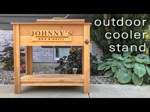 Do It Yourself Outdoor Cooler Stand