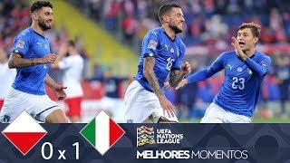 POLÔNIA 0 X 1 ITÁLIA - MELHORES MOMENTOS - UEFA NATIONS LEAGUE (14/10/2018)