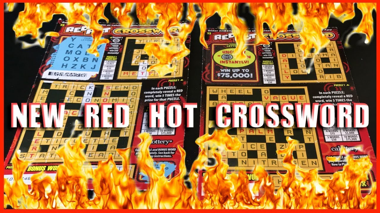 New Red Hot Crossword California Lotto Scratcher Finally A Win on Bonus  word!