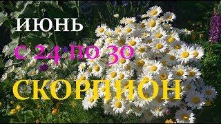 СКОРПИОН. С 24 по 30 ИЮНЯ 2019г. ТАРО ПРОГНОЗ.