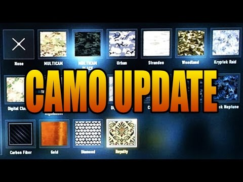 Advanced Warfare CAMO UPDATE! Now Easier to Unlock! (Call of Duty AW Multiplayer Patch)