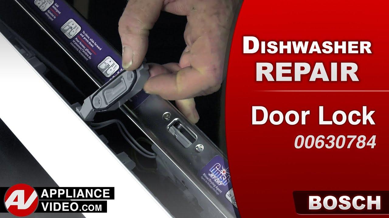 Bosch Dishwasher Door Lock Repair Amp Replacement Youtube