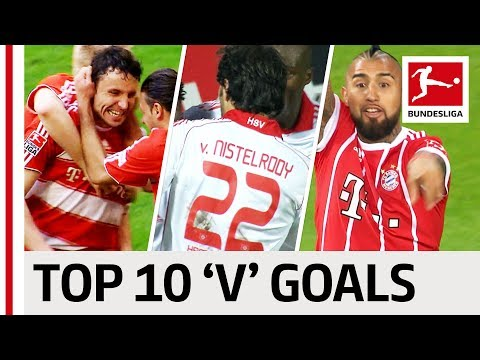 "Van Nistelrooy, Vidal & More! - Top 10 Goals - Players With ""V"""