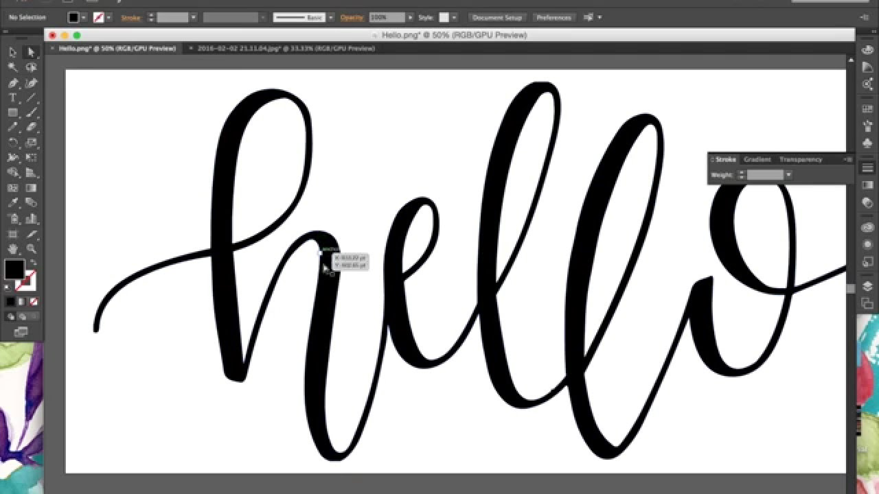 Tutorial how to digitize hand lettering calligraphy using