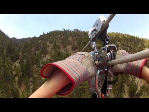 Ziplining with Big Pines Zipline in Wrightwood, CA