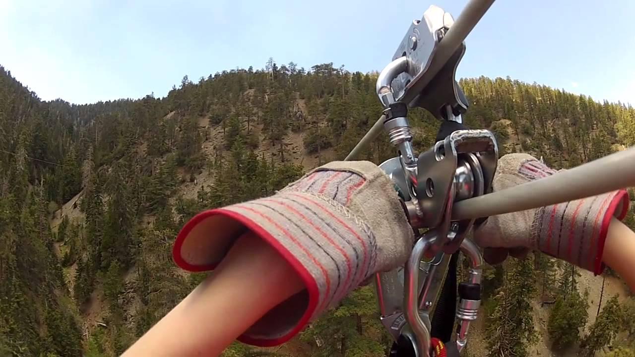 Ziplining with Big Pines Zipline in Wrightwood, CA - YouTube