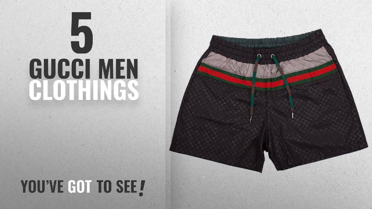 15aa1b8197 Top 10 Gucci Men Clothings [ Winter 2018 ]: Gucci Swim Shorts, Black ...