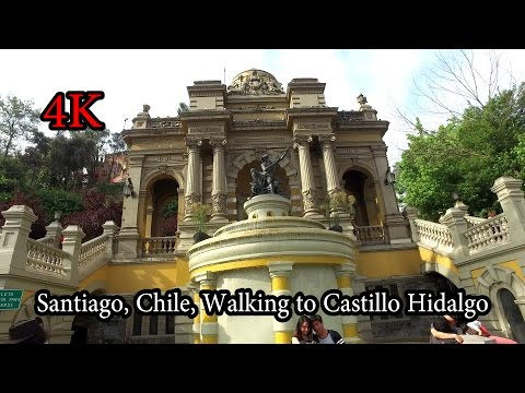 4K - Santiago, Chile -  Walking around Castillo Hidalgo