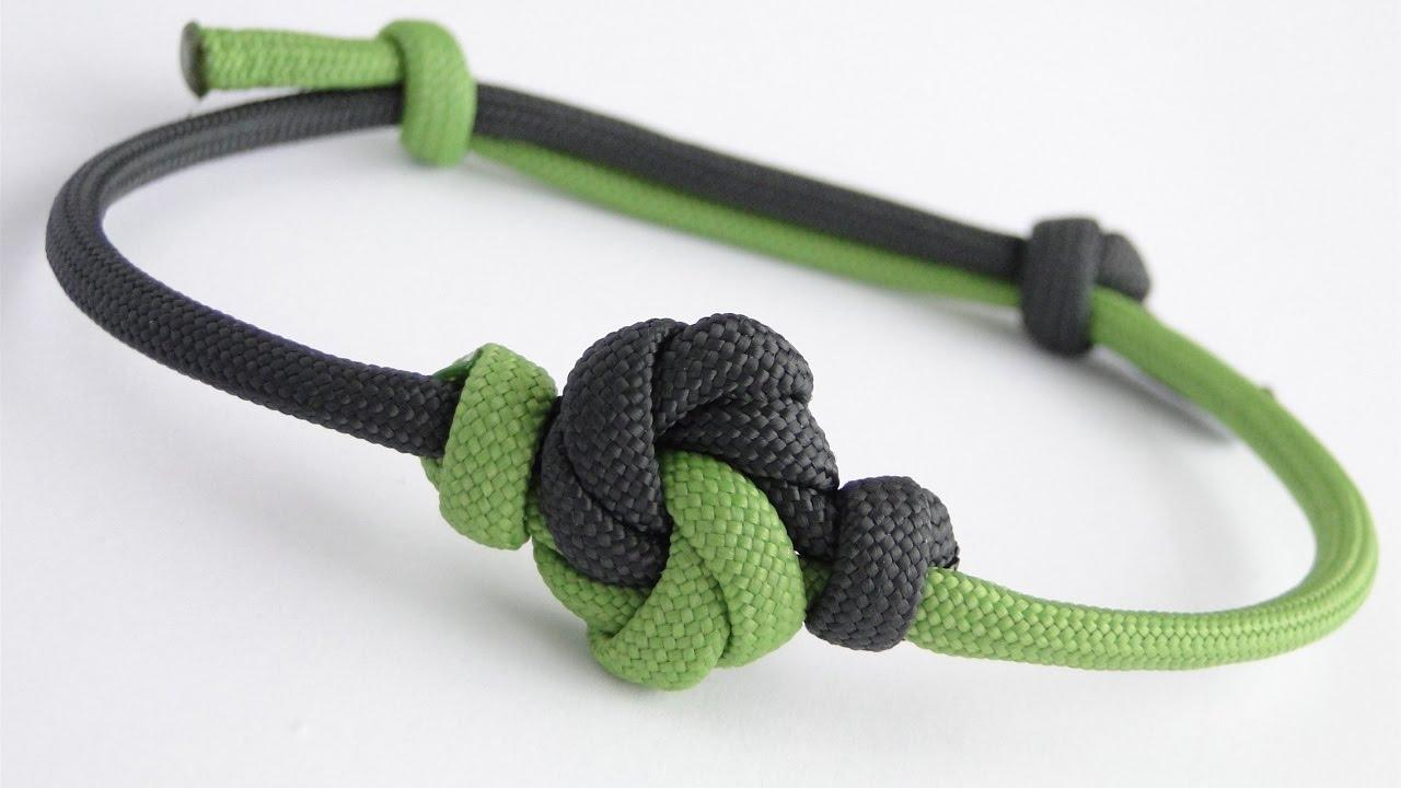 how to make a mandala knot paracord sliding knot friendship bracelet youtube. Black Bedroom Furniture Sets. Home Design Ideas