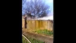 У смт Чаплинка ліквідовано пожежу у господарчій споруді