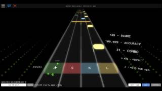 roblox guitar hero #1 got 90% or above most of the times