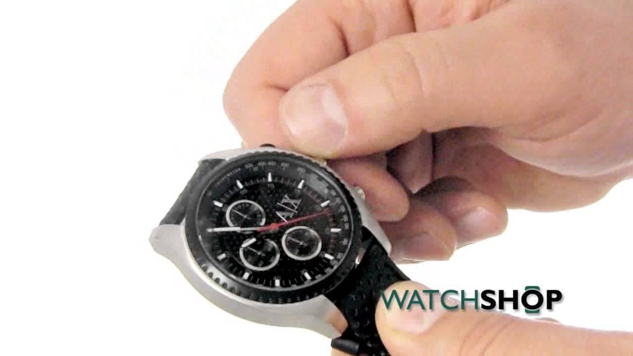 e3654595c80 Men s Armani Exchange Chronograph Watch (AX1600) - YouTube