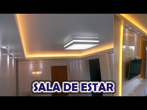 Spot A Led Da Interno.Iluminacao Sala De Estar Com Spot Paflon Pendente E