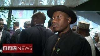 'We will bring abducted girls back' Nigeria's Goodluck Jonathan - BBC News