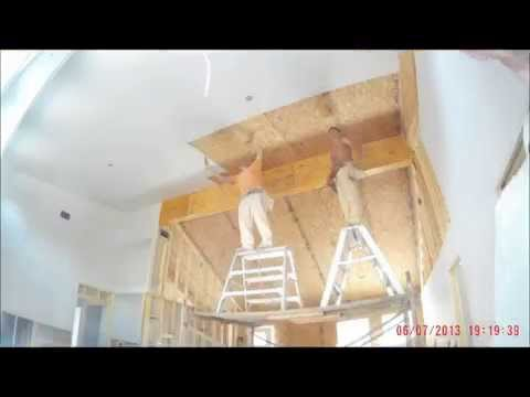 Drywall install in SIPs Home