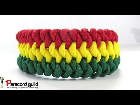 3 color Mated snake knot paracord bracelet