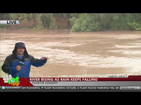 KXAN - Fayette County battles rising water and rain pounds small towns