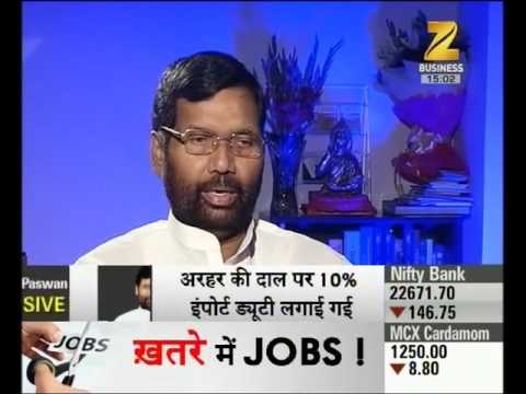 Exclusive talk with Ram Vilas Paswan, Consumer affair, Food and Distribution Minister