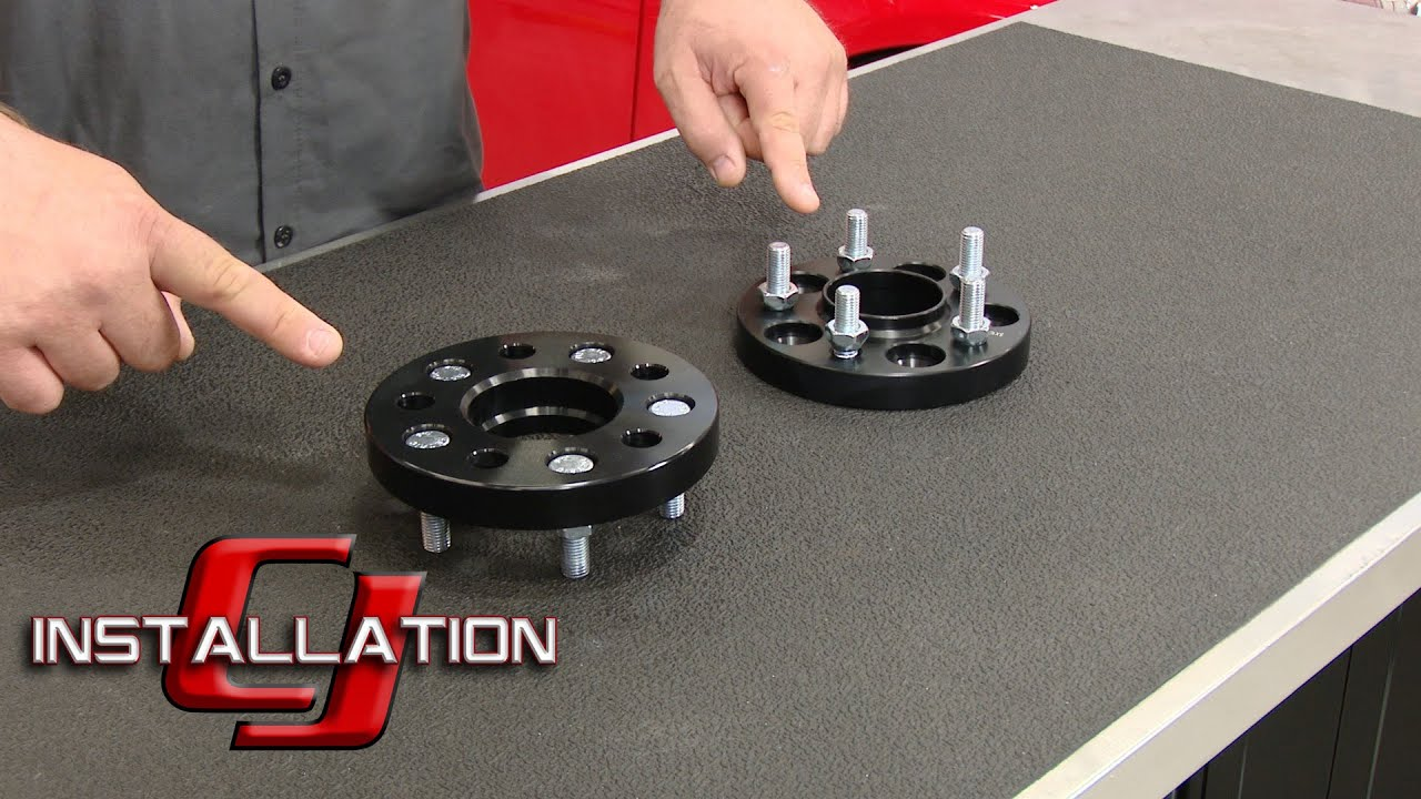 Focus ST Wheel Spacer Hub Centric 20mm Black Pair 2013-2018 Installation - YouTube