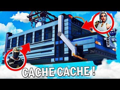 CACHE CACHE DANS LE BUS FORTNITE !