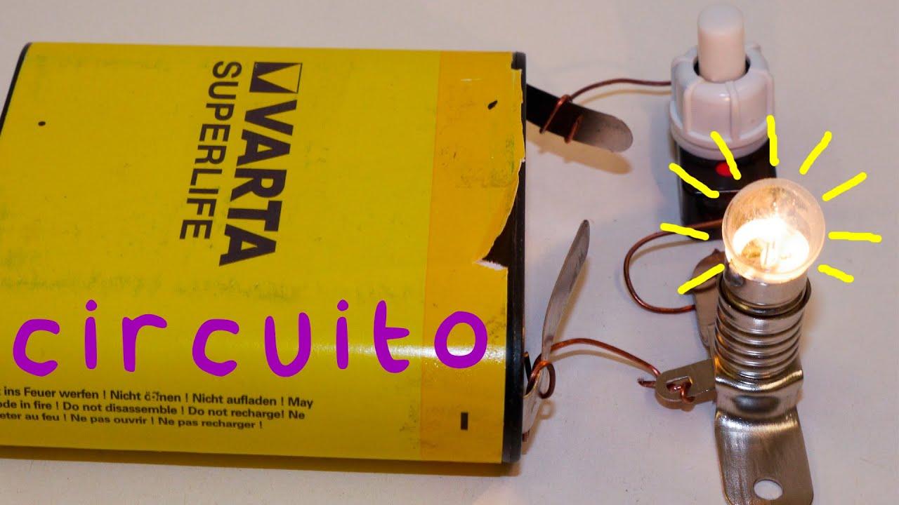 Circuito Que Tenga Un Interruptor Una Pila Y Una Bombilla : Circuito básico eléctrico electrÓnica proyecto de