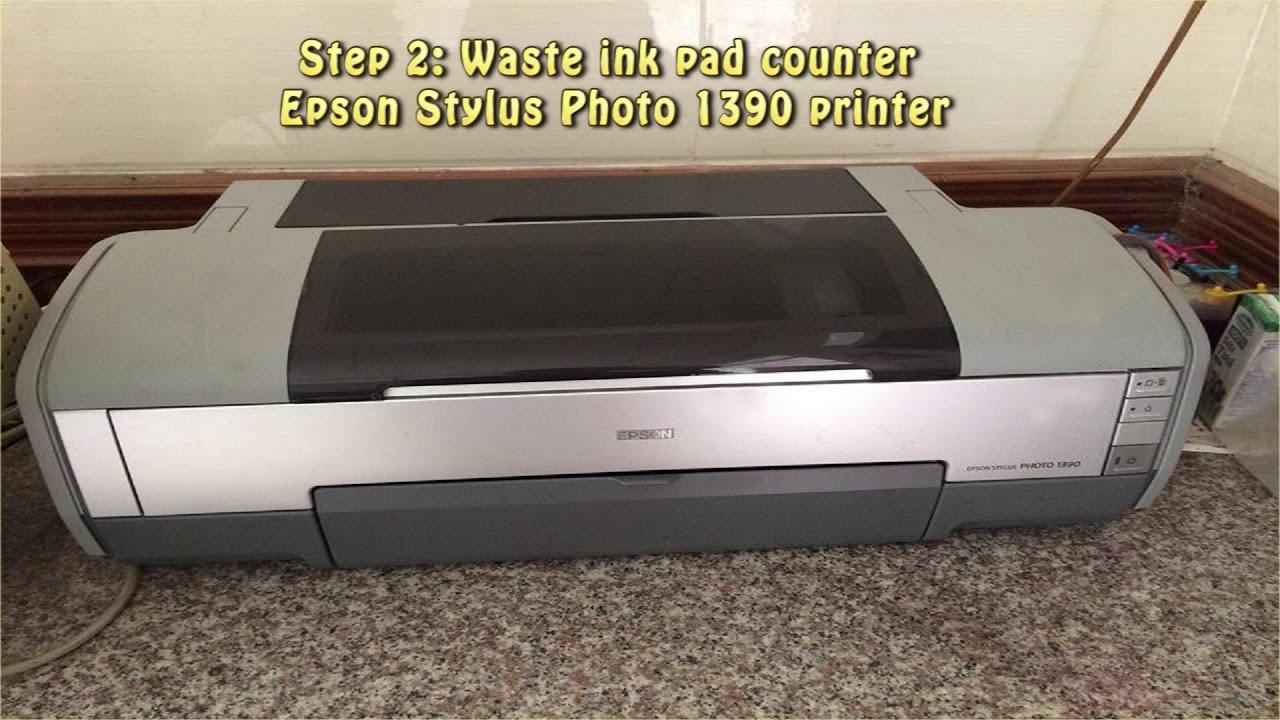 Reset Epson Stylus Photo 1390 Waste Ink Pad Counter Youtube