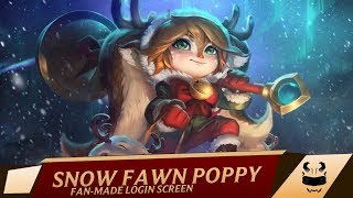 Snow Fawn Poppy | Login Screen - League of Legends [FANMADE]