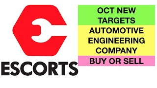 ESCORT LIMITED| NEW TARGETS FOR OCT MONTH| BUY SELL OR HOLD|