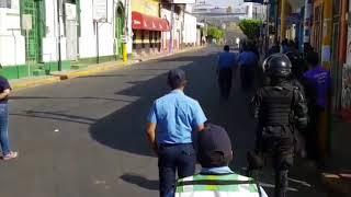 Protestas en Monimbo contra reformas al Inss