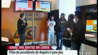 Isabel dos Santos na assembleia geral da ZON Optimus
