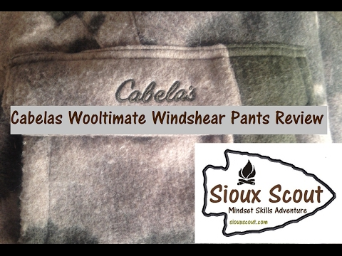 Cabelas Wooltimate Windshear Pants Review