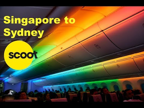 Scoot Airlines 787-9 Singapore To Sydney