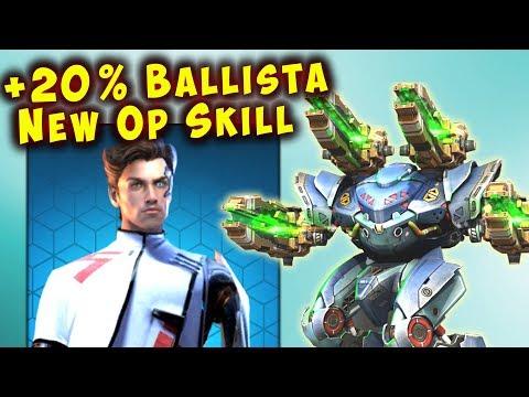 NEW +20% Ballista Spectre Skill - KING OF YAMANTAU - War Robots WR
