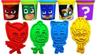 Gambar cover Play-Doh PJ masks Molds & Surprise Eggs, Learn Colors, nursery rhymes