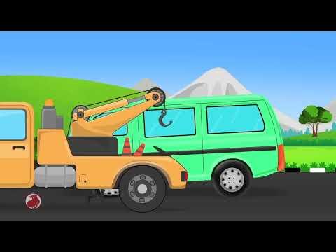 Army Truck Car Garage | Car Repair Cartoon Video For Kids | Fun videos