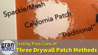 Comparing Three Drywall Patch Methods