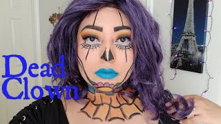 Day Of The Dead Clown|Halloween Tutorial|LoveJasmine