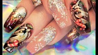 Unicorn Christmas Nails   Diva Nail Art Design Tutorial 2017