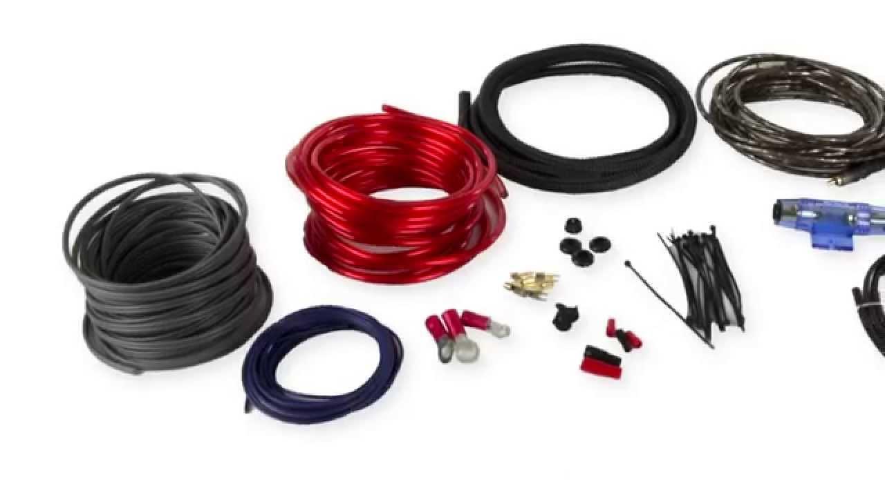Boss 8 Gauge Complete Amplifier Kit Wiring Installation   B8GK - YouTube
