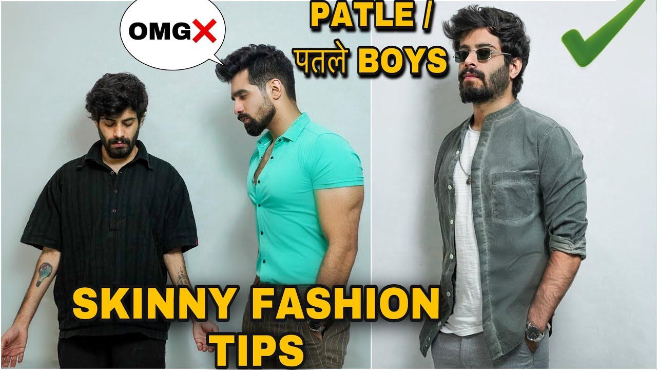 SKINNY BOYS FASHION TIPS| पतले लड़को का FASHION| MEN'S FASHION HACKS| TRANSFORMATION| STYLE TIPS|