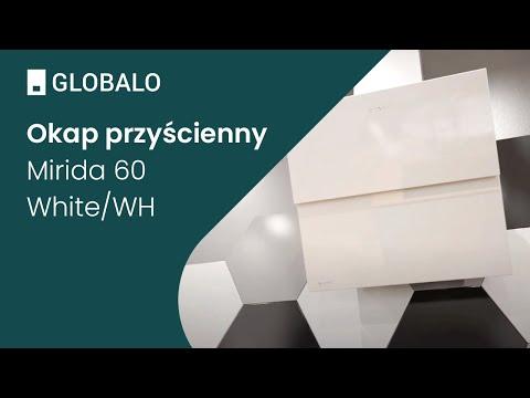 Okap przyścienny GLOBALO Mirida 60.3 White/WH | Ciche i wydajne okapy GLOBALO
