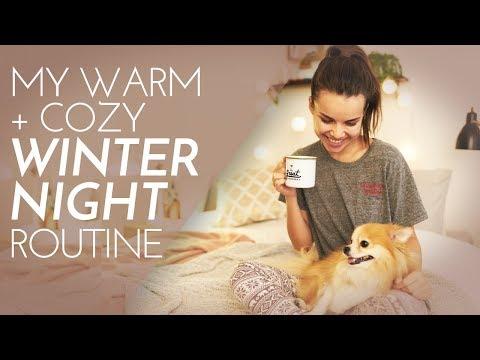 My Warm + Cozy Winter Night Routine! Skincare + More | Ingrid Nilsen
