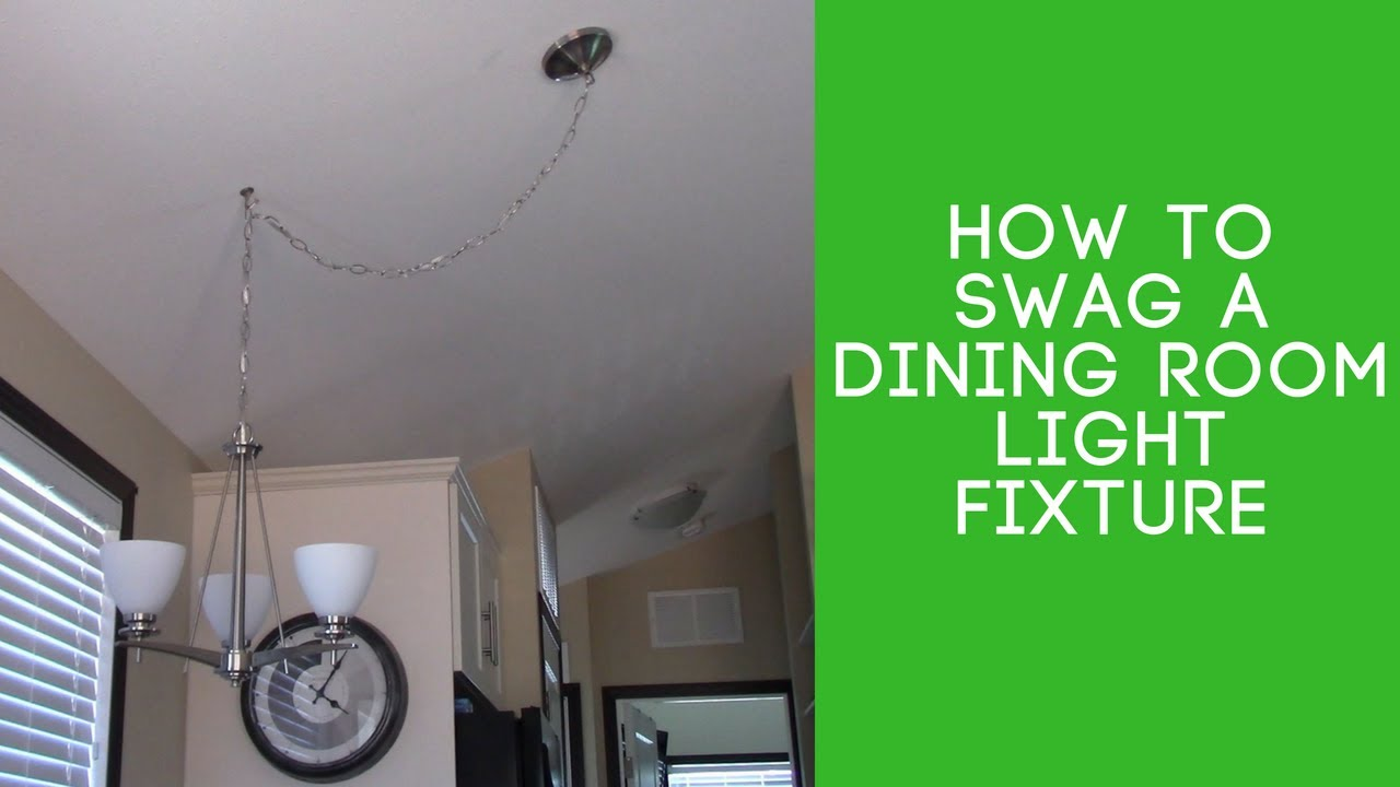 How To Swag A Light Fixture You