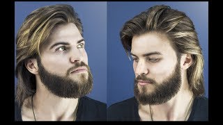 How to Cut and Style Long Hair for Men - Collar-Length Sweep Back