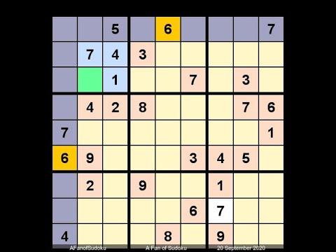 How to Solve Irish Independent Sudoku September 20, 2020