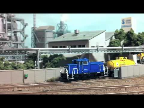 N scale small layout of industrial railway